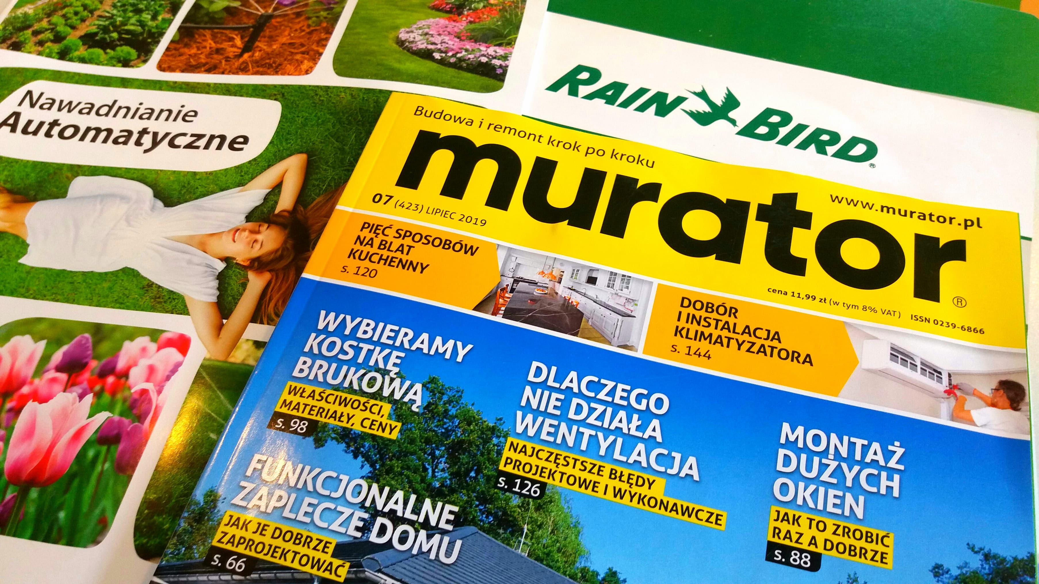 Darmowy projekt systemu nawadniania -akcja Murator i Rain Bird