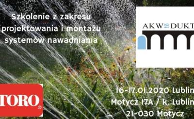 Szkolenie z instalacji systemu nawadniania na marce Toro Lublin