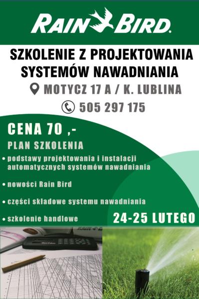 Szkolenia dla instalatorów z nawadniania. Automatyczny system nawadniania szkolenia Lublin.