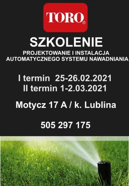 szkolenie toro z nawadniania Lublin Rzeszów Kielce Biała Podlaska Zamość